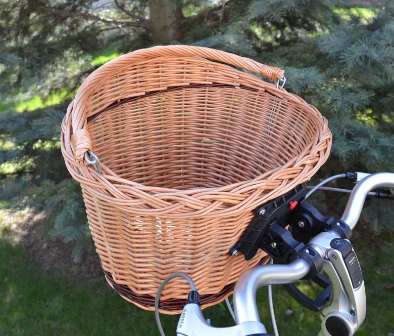 04fda0fa788997 Koszyk wiklinowy na rower przód Click naturalny z paskiem, www ...